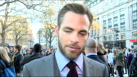 'Star Trek Into Darkness' premiere Red carpet arrivals Alice Eve interview SOT / Chris Pine speaking to press and interview SOT / Eve speaking to...