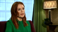 Film 'Still Alice' tackles the neglected condition dementia ENGLAND London INT Julianne Moore interview SOT