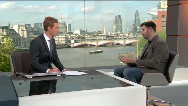 Scriptwriter Matt Charman interview ENGLAND London GIR INT Matt Charman STUDIO interview SOT
