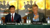 'The Expendables' Press conference Lundgren press conference SOT Talks of audience not falling out of love with action heroes Stallone press...