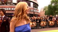 'The Hangover' UK premiere red carpet arrivals Heather Graham red carpet interview SOT/ Heather Graham talking to press on red carpet/ Heather Graham...