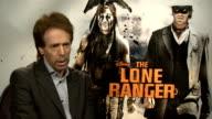 'The Lone Ranger' junket interviews ENGLAND London INT Jerry Bruckheimer interview SOT / Armie Hammer interview SOT