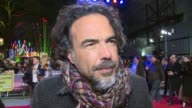 'The Revenant' premiere Red carpet arrivals Alejandro Gonzalez Inarritu speaking to press and interview SOT / Maisie Williams along red carpet / Paul...