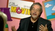'The Simpsons Movie' Matt Groening interview ENGLAND London INT Matt Groening interview SOT On the environment and 'The Simpsons' global warming...