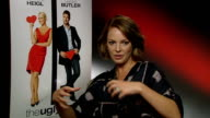 'The Ugly Truth' Katherine Heigl and Gerard Butler interviews Heigl interview SOT On Rom Coms