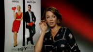 'The Ugly Truth' Katherine Heigl and Gerard Butler interviews ENGLAND London INT Katherine Heigl interview SOT