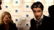 'The Way Back' premiere celebrity interviews ENGLAND London INT Colin Farrell interview SOT On how he got into the character On his emersion in the...