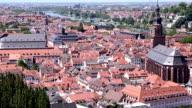 Film-Tilt: Heidelberger Stadtbild am Sommer, Deutschland