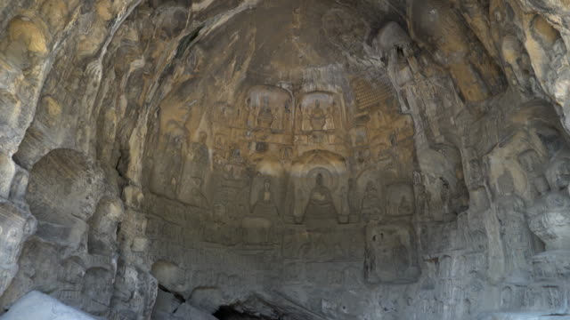 Film Tilt: Longmen Grottoes Luayang Henan China