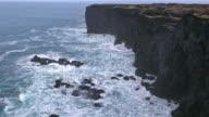 Film Tilt of Svortuloft Coastal at Snaefellsness Peninsula in Iceland