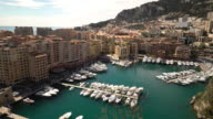 Film Tilt shot of Fontvieille Monaco Monaco French Riviera
