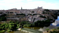 HD Film tilt: Toledo ancient town Cityscape Spain