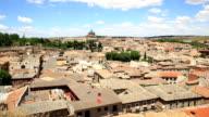 HD Film tilt: Toledo Cityscape Spain
