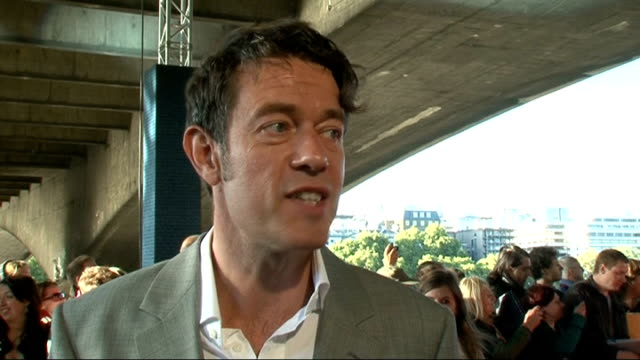 'Tinker Tailor Soldier Spy' premiere celebrity interviews ENGLAND London BFI Southbank EXT Peter Straughan interview SOT On the book and TV series /...