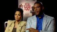 'Why Did I Get Married Too' interview with Janet Jackson and Tyler Perry Jackson and Perry play snog marry avoid game Jackson and Perry interview SOT...