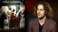 'Anna Karenina' cast interviews Knightley interview SOT Favourite memory from filming on being good at mixing cocktails Aaron Taylor Johnson...