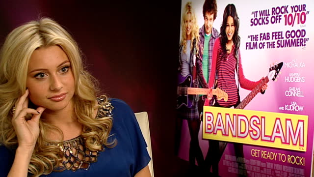 'Bandslam' Aly Michalka interview Quized on band names / comparisons with 'High School Musical' and 'Camp Rock' / talks of her singing career and...