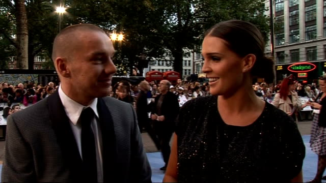 Charlie St Cloud premiere Danielle Lloya and her fiance Jamie OHara interview SOT tired first night out without baby on Zac Efron loved his film on...
