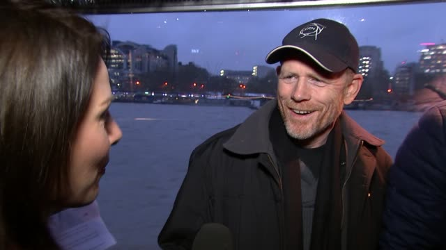 Interviews with cast and director of 'In the Heart of the Sea' INT Ron Howard interview SOT talks of it being a true story origin story for Moby Dick