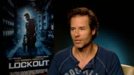 'Lockout' film junket ENGLAND London INT Guy Pearce interview SOT Describing the film 'I see it as a piece of entertainment It's scifi/action and...