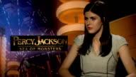 Percy Jackson Sea of Monsters Logan Lerman and Alexandra Daddario interviews Alexandra Daddario interview SOT