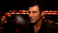 Private screening of 'The Fighter' ENGLAND London PHOTOGRAPHY*** GVs film poster Joe Calzaghe interview SOT On the film fan of Micky Ward wants to...