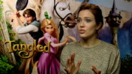 Tangled Mandy Moore interview ENGLAND London INT Mandy Moore interview SOT On being a Disney Princess Her character is bohemian feisty knows how to...