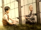 'The boy in the striped pyjamas' Interviews at premiere Asa Butterfield and Jack Scanlon speaking to media