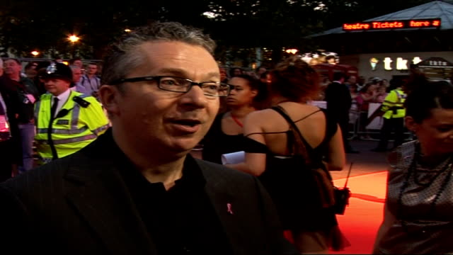 'The Devil wears Prada' charity screening Arrivals Jeremy Hughes interview SOT Talks of money raised for Breakthrough Breast Cancer by the fashion...