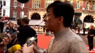 'The Karate Kid' London premiere Jackie Chan interview SOT On how often he comes to London On Jaden he could what he is doing next Chinese Zodiac...