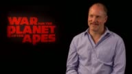 'War for the Planet Of The Apes' junket interviews Woody Harrelson interview SOT On how his character is abhorrent but how he related to him while...