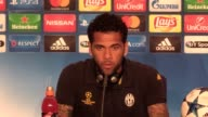 Final part of a Juventus press conference at the National Stadium of Wales with Dani Alves and Gianluigi Buffon ahead of their Champions League final...