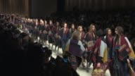 Finale at Burberry Prosum A/W14 London Fashion Week at Kensington Gardens on February 17 2014 in London England