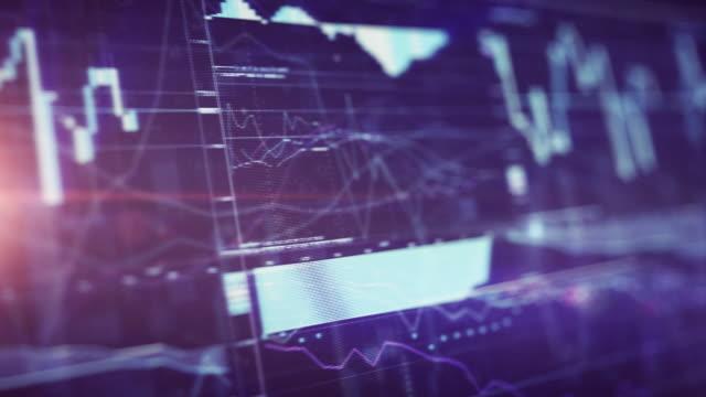Financiële grafiek op digitale Display