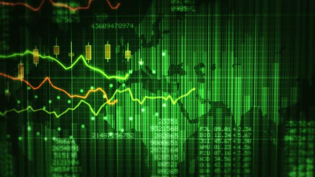 Diagrammi finanziari con l'aumento dei profitti. Verde e blu. Economia sfondo.