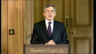 government to buy stake in three UK banks Gordon Brown Alistair Darling press conference Question SOT Prime Minister you have mentioned today the...