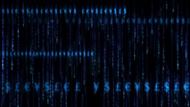 Financial Matrix 001, HD Looping Background