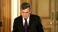 Financial rescue package for British banks Downing Street press conference Gordon Brown MP press conference SOT On UK plan On proposals for working...
