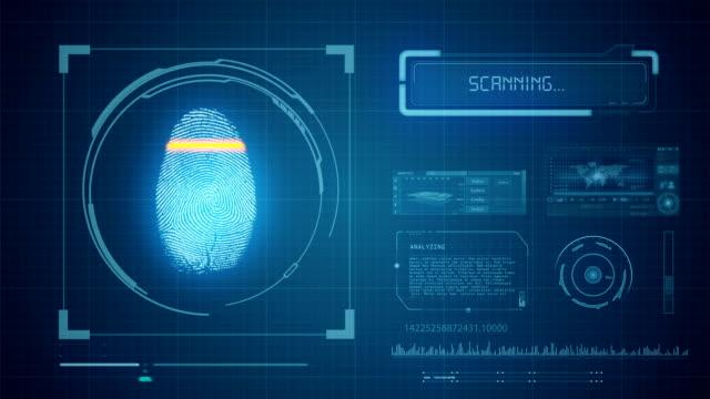 Fingerabdruck-Scan-Zugang gewährt