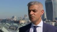 Sadiq Khan interview ENGLAND London City Hall EXT Sadiq Khan interview re Finsbury Park attack SOT