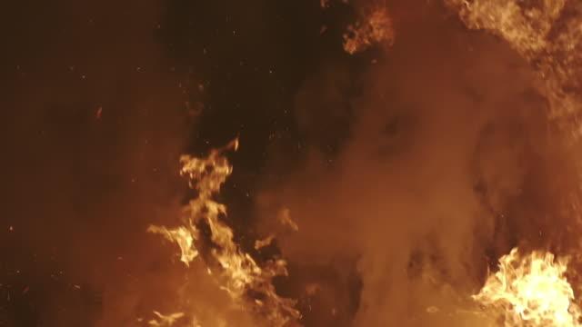 L/S fire, big flames