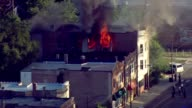 Fire Burning Apartment Complex on July 29 2013 in Chicago Illinois