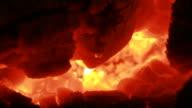 fire, close, burning coals