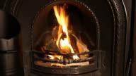 Feuer in Nahaufnahme mit Textfreiraum