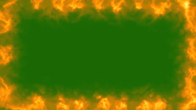 Fire Frame - Green Screen