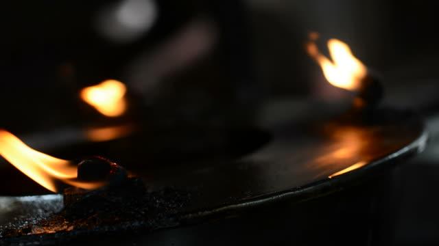 Feuer von Öl-Lampe
