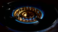 Fire on gas stove
