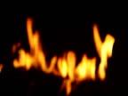 Fire: Rack Focus of Flames through Mesh Screen