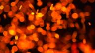 Fire Sparkle Dots Background (Super Slow Motion)