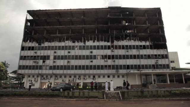 A fire swept through the main building of Cameroon's parliament in Yaounde overnight causing substantial damage but no injuries